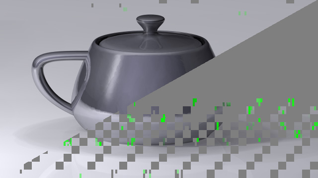 GPU rasterization pattern of the Utah Teapot